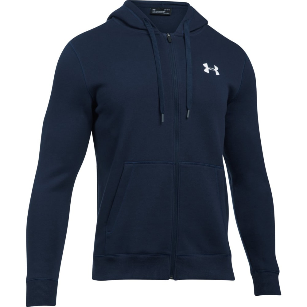 UNDER ARMOUR Men's UA Rival Fleece Fitted Full-Zip Hoodie S