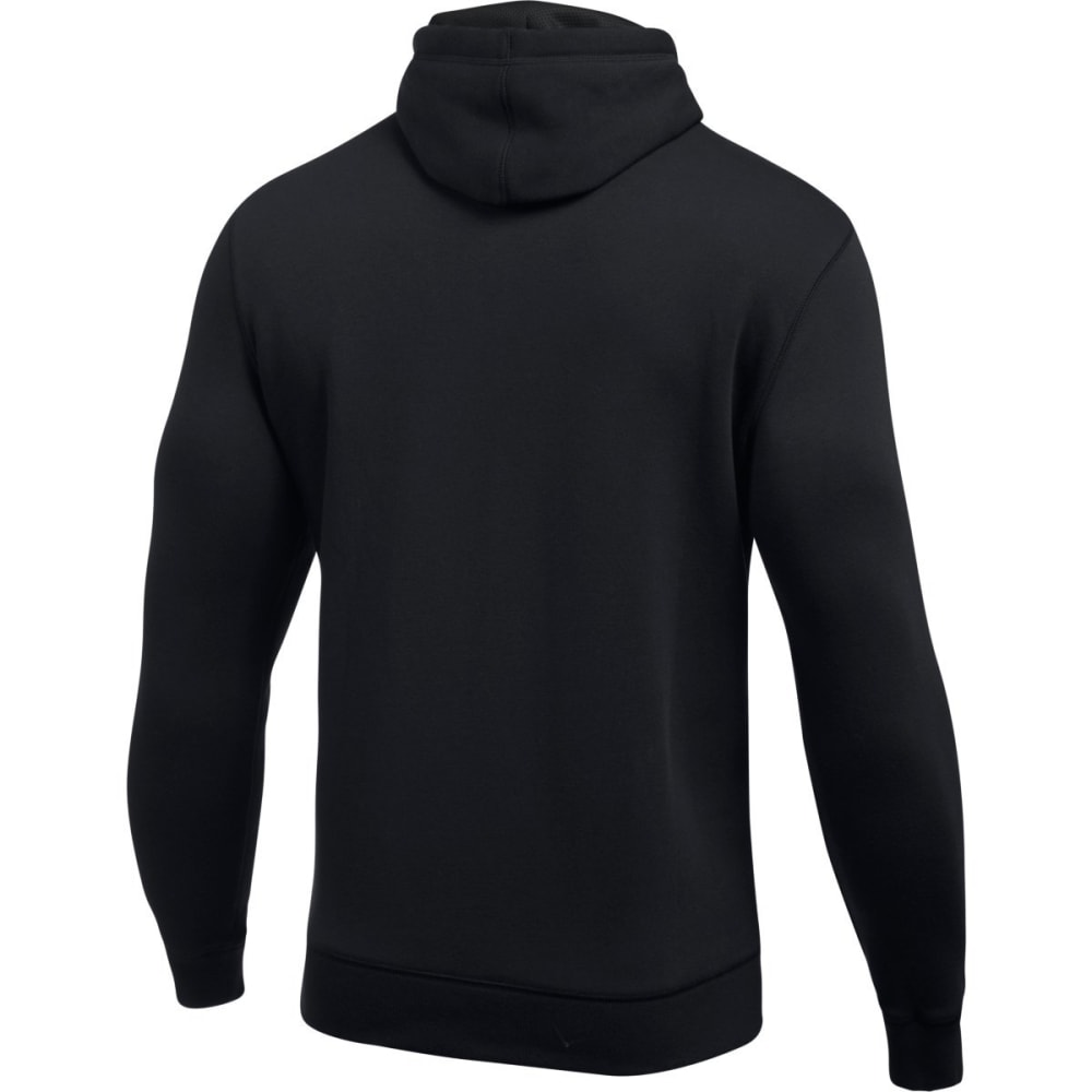 UNDER ARMOUR Men's Rival Fitted Pullover Hoodie - BLACK/GRAPHITE-001