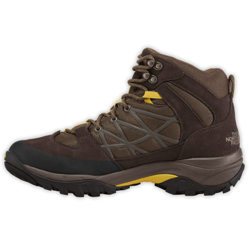 THE NORTH FACE Men's Storm Mid Waterproof Hiking Boots, Coffee Brown/Antique Moss - BROWN/ANTIQUE MOSS