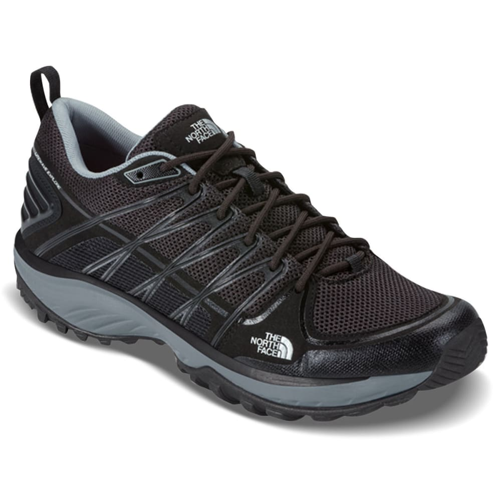 THE NORTH FACE Men's Litewave Explore Hiking Shoes, TNF Black/Silver - TNF BLACK METALLIC
