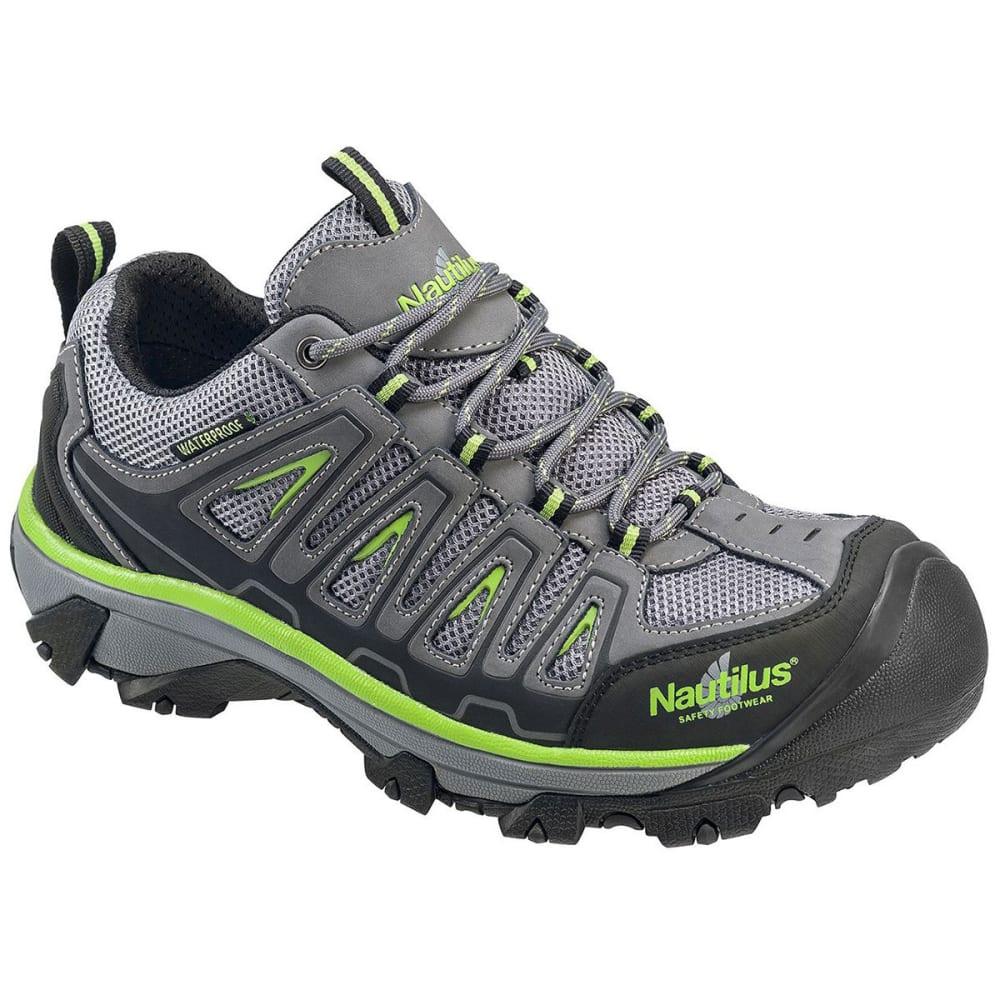 NAUTILUS Men's 2208 Waterproof Steel Toe Work Shoes, Gray/Lime - GREY