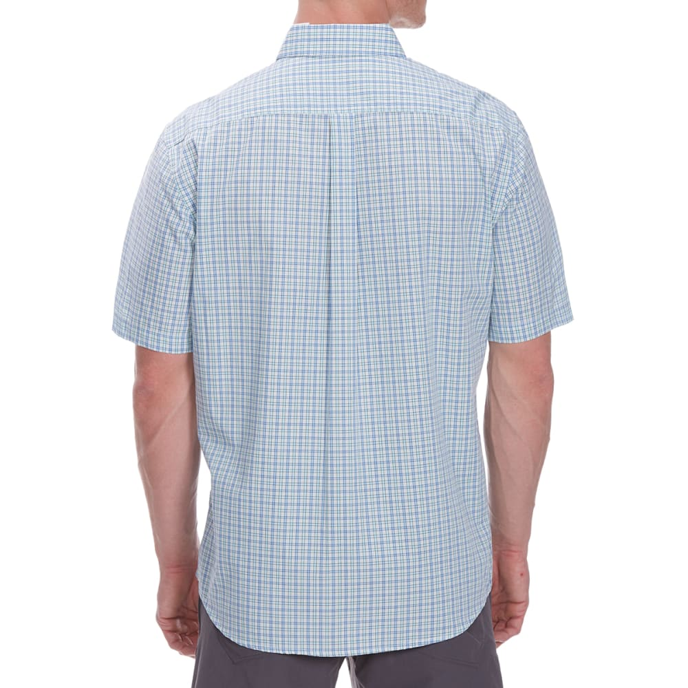 DOCKERS Men's Small Plaid Woven Short-Sleeve Shirt - DELLA ROBBIA BL-0161