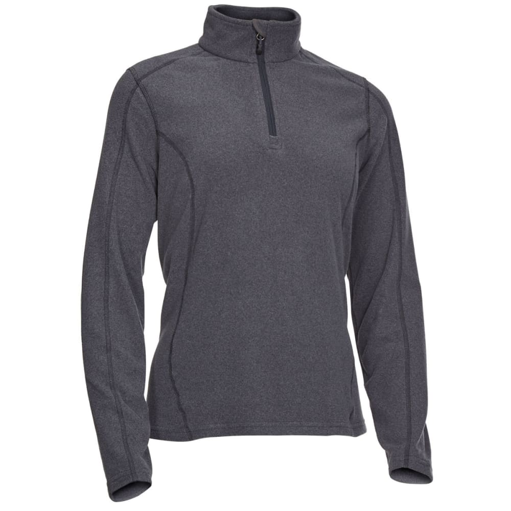 EMS Women's Classic Micro Fleece Quarter Zip - CHARCOAL HEATHER