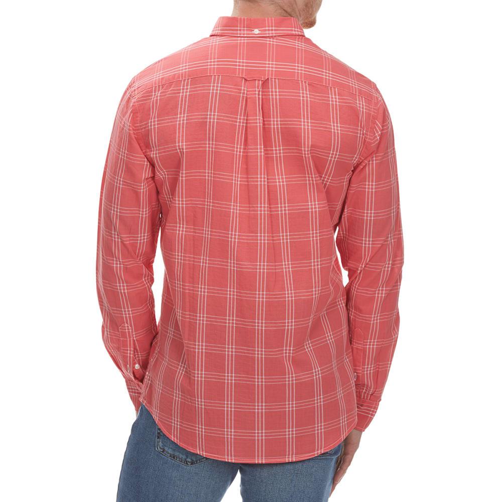 DOCKERS Men's Beach Poplin Grid Woven Long-Sleeve Shirt - CRLSUN-0421