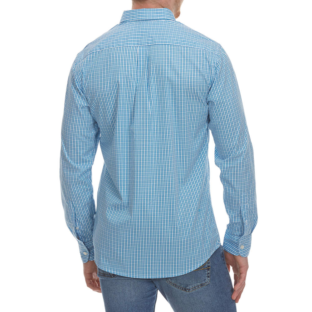 DOCKERS Men's Stretch Grid Woven Long-Sleeve Shirt - CODE BLUE-0362