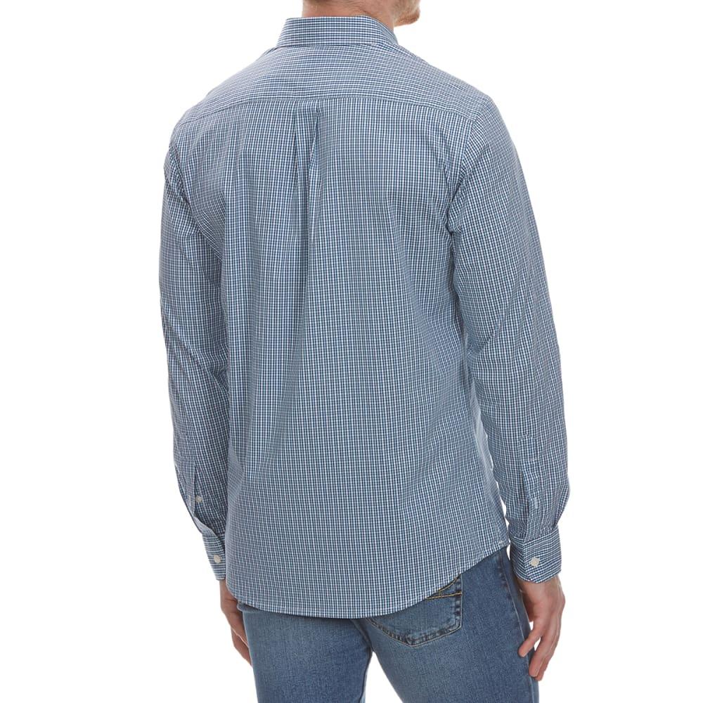 DOCKERS Men's Stretch Grid Woven Long-Sleeve Shirt - GULF STREAM-0247