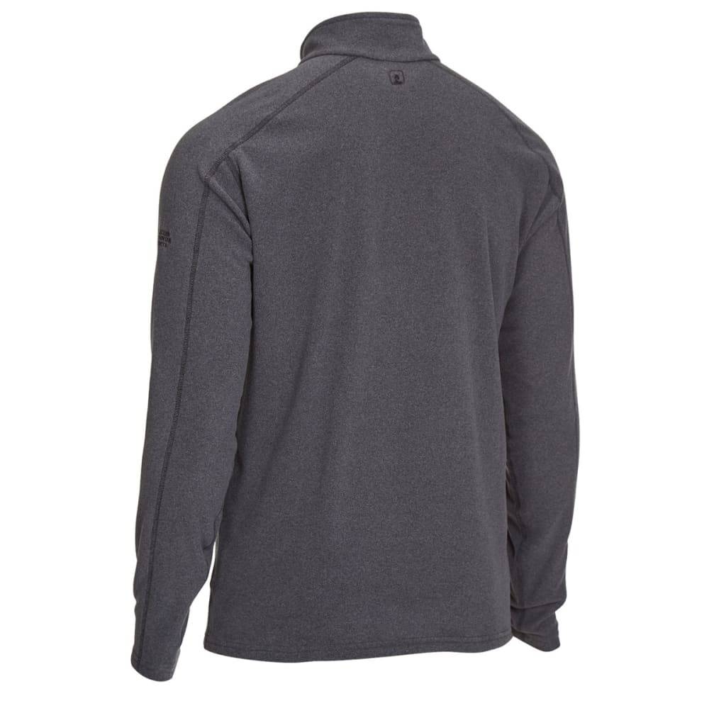 EMS Men's Classic Micro Fleece Quarter Zip - CHARCOAL HEATHER
