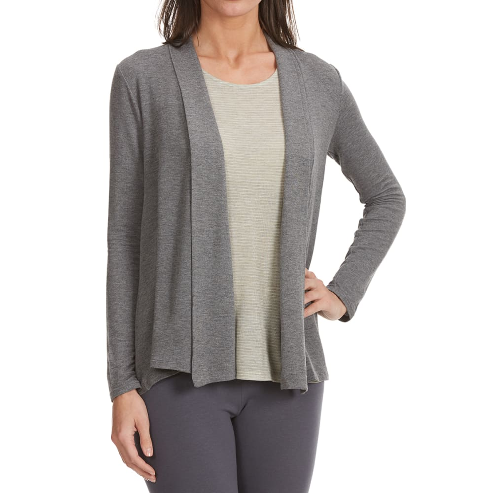 TRESICS FEMME Women's Long Sleeve Cardigan - HT CHARCOAL