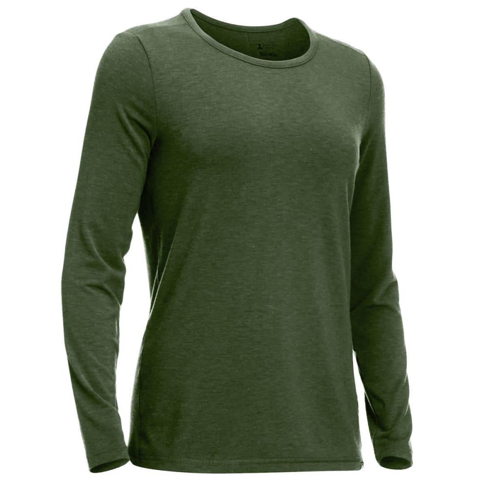 EMS® Women's Techwick® Journey Long-Sleeve Top - BRONZE GREEN HEATHER