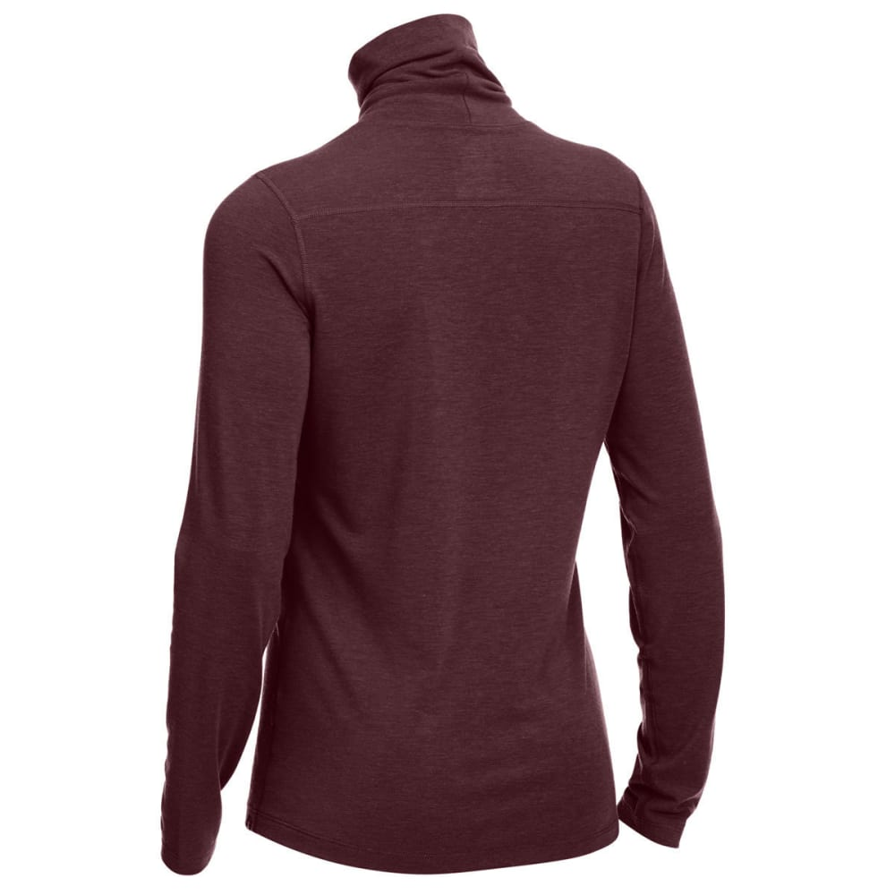 EMS Women's Techwick Journey Long-Sleeve Turtleneck Top - PORT ROYALE HEATHER