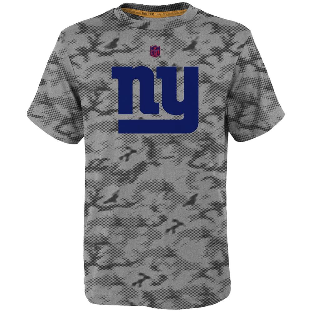 NEW YORK GIANTS Boys' Vector Camo Dri-Tek Short-Sleeve Tee - HEATHER GREY