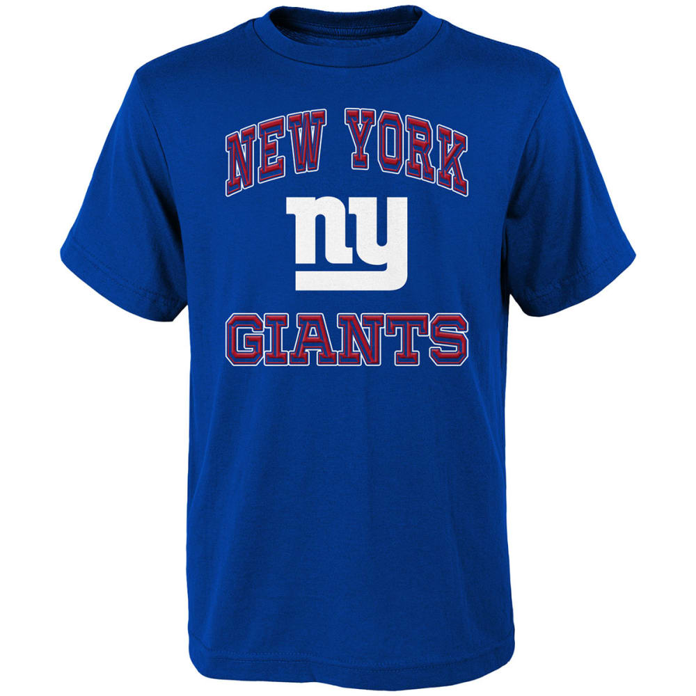 NEW YORK GIANTS Boys' Gridiron Hero Short-Sleeve Tee - ROYAL BLUE