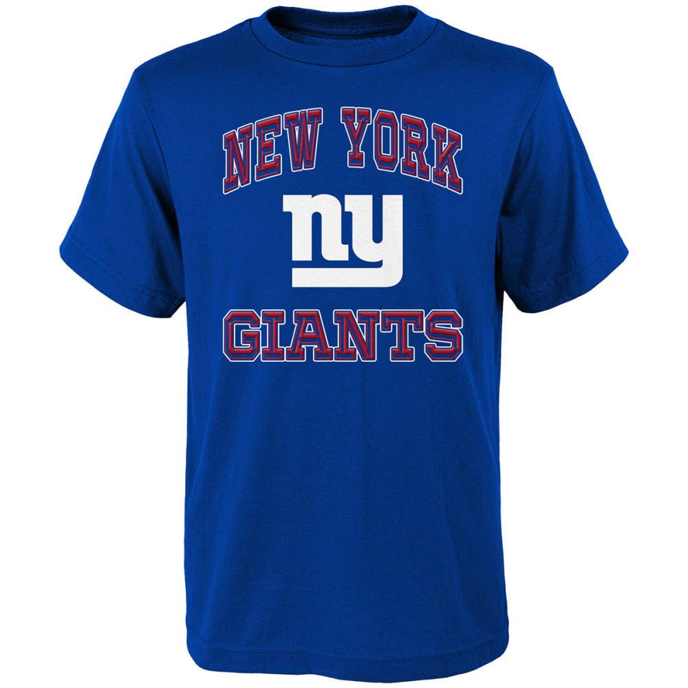 NEW YORK GIANTS Boys' Gridiron Hero Short-Sleeve Tee - ROYAL BLUE