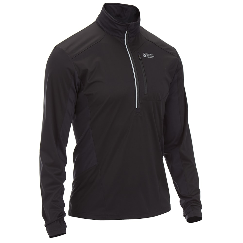 Ems(R) Men's Techwick(R) Crosswind 1/2-Zip Pullover - Black, S