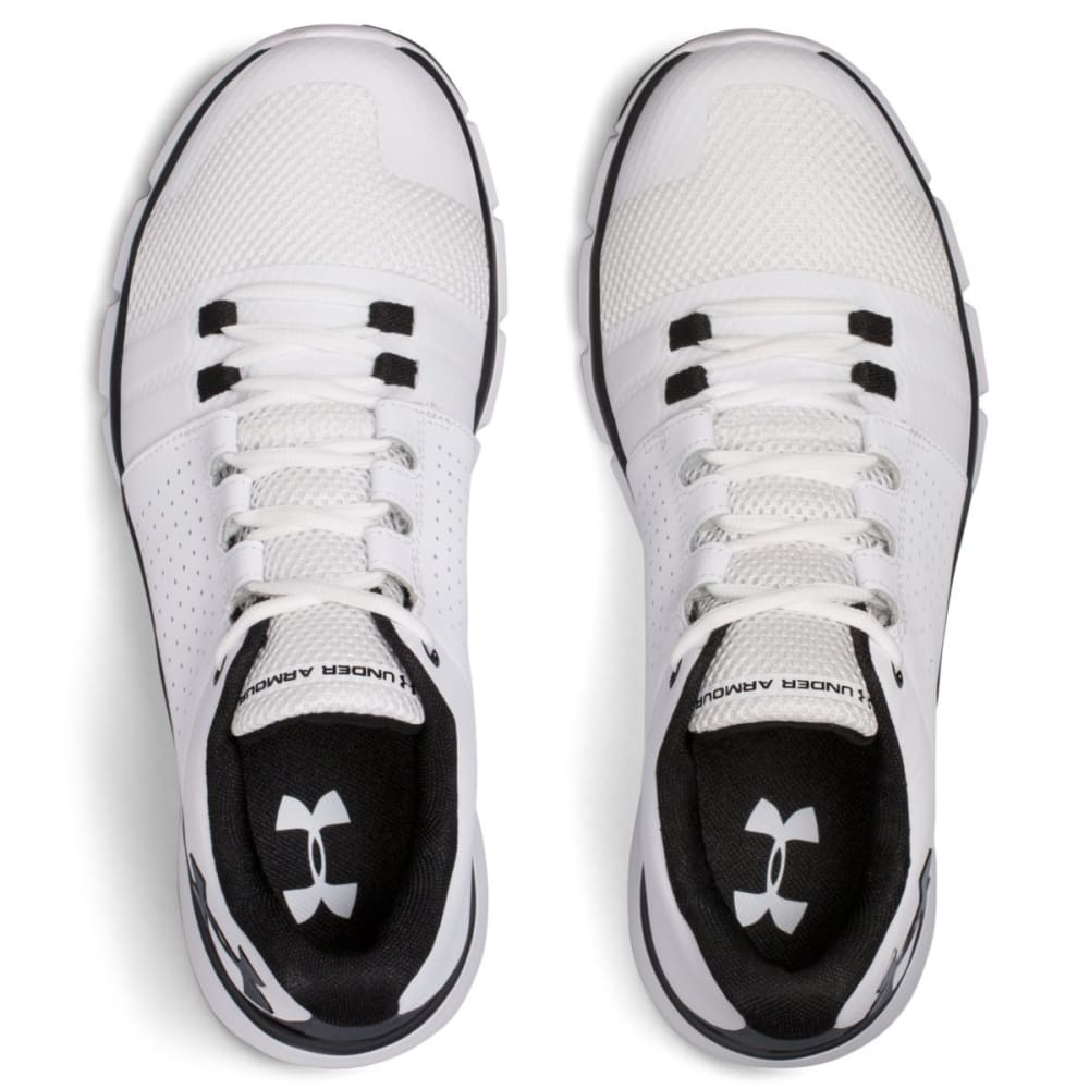 UNDER ARMOUR Men's Strive 7 Cross-Training Shoes, White/Black - WHITE