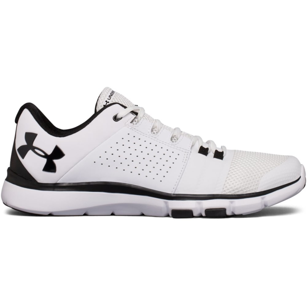 UNDER ARMOUR Men's Strive 7 Cross-Training Shoes, White/Black - WHITE