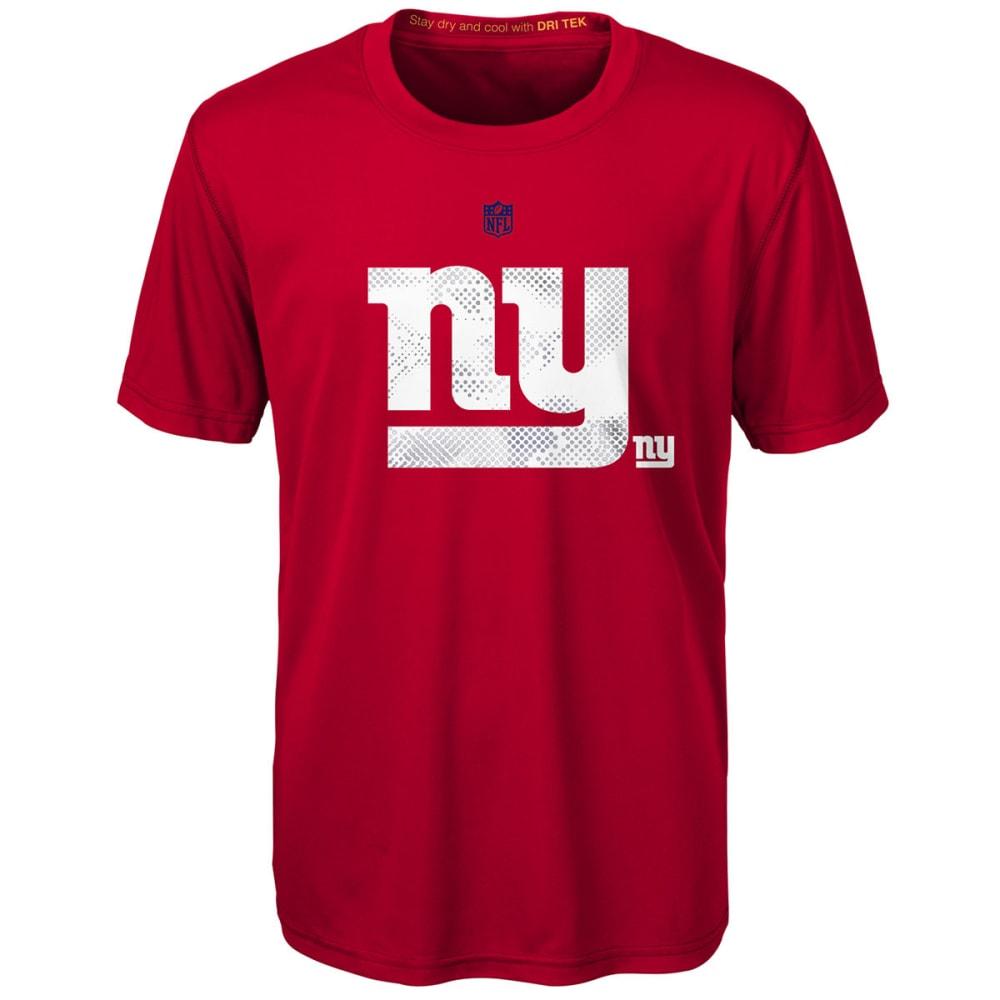 NEW YORK GIANTS Boys' Carbon Logo Dri-Tek Short-Sleeve Tee S