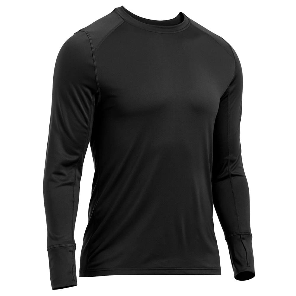 EMS® Men's Techwick® Lightweight Base Layer Crew Shirt - BLACK