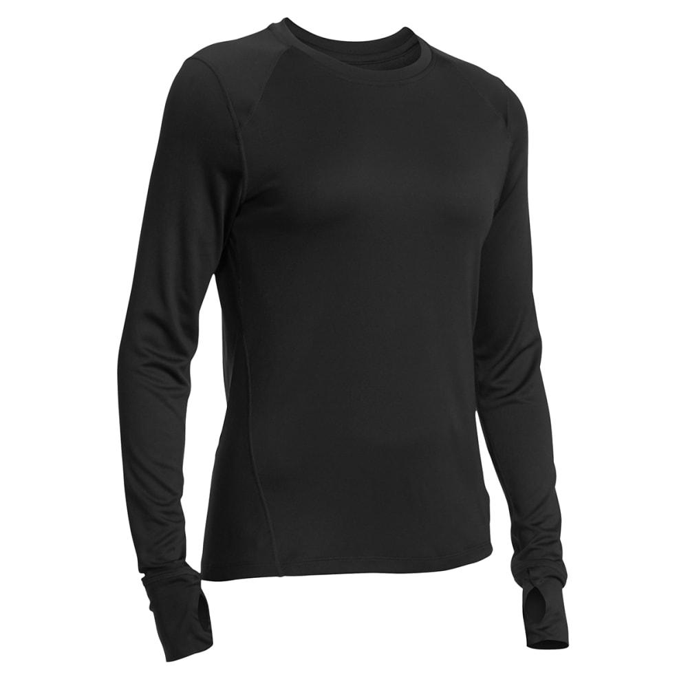 EMS® Women's Techwick® Lightweight Long-Sleeve Crew Baselayer - BLACK