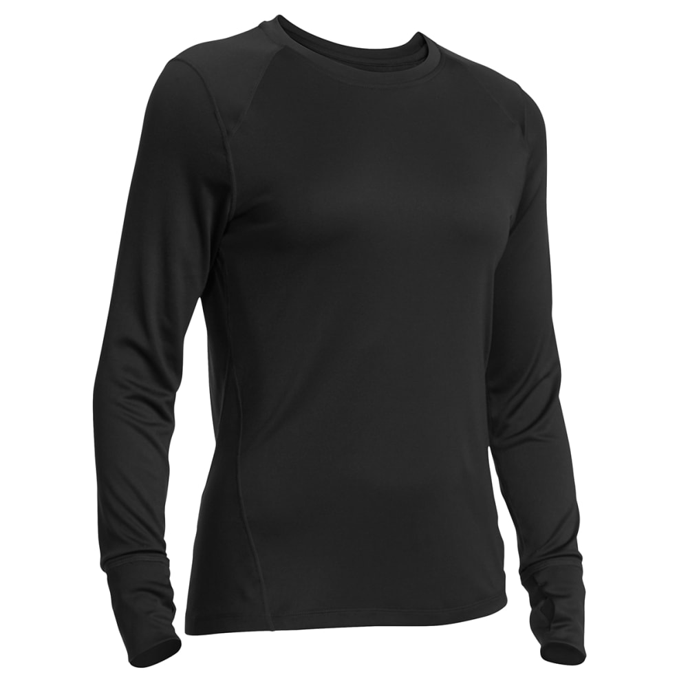 EMS Women's Techwick Lightweight Long-Sleeve Crew Baselayer - BLACK