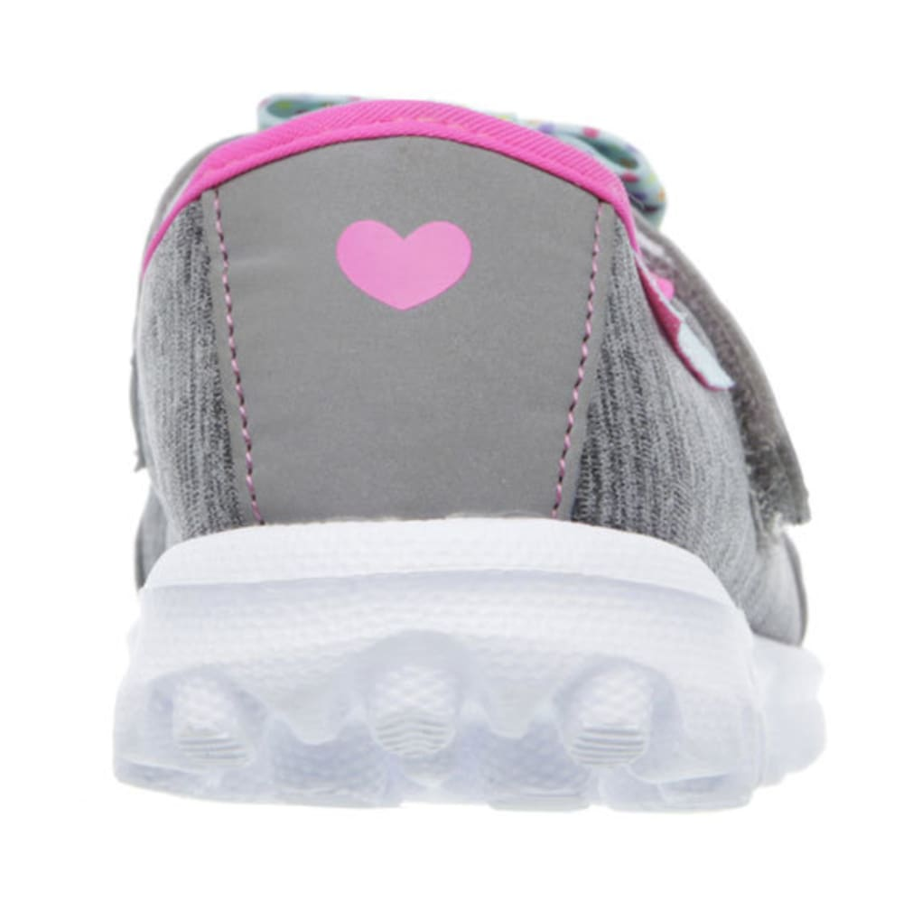 SKECHERS Girls' GoWalk – Bitty Bow Shoes, Gray - GREY