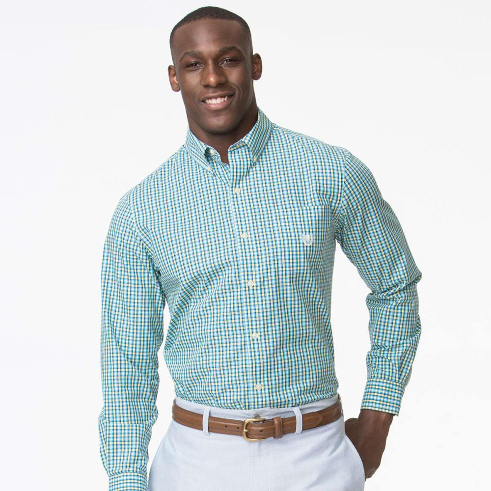CHAPS Men's Easy Care Plaid Woven Long-Sleeve Shirt - COVE BLUE-001