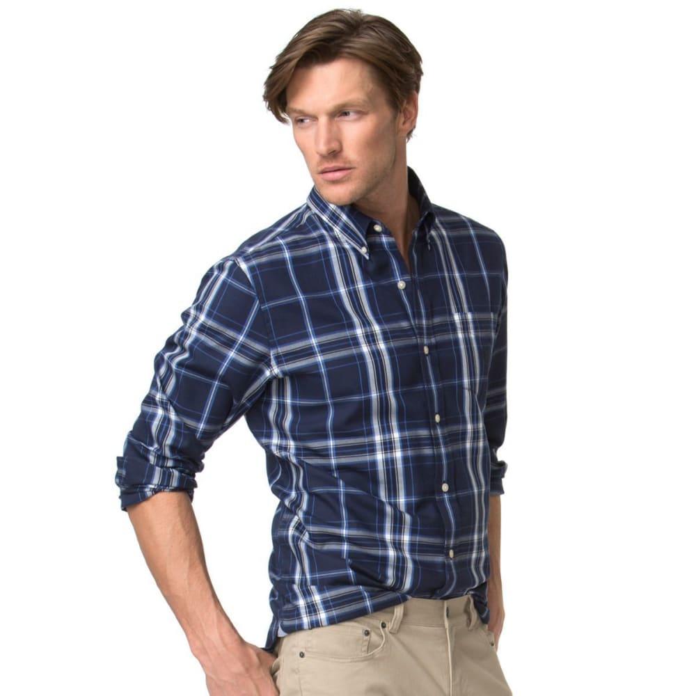 CHAPS Men's City Marina Windowpane Woven Long-Sleeve Shirt - NEWPORT NVY-001