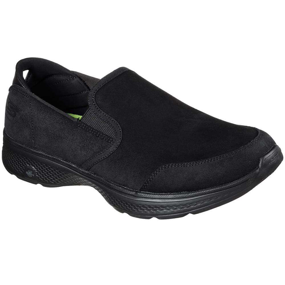 SKECHERS Men's GOwalk 4 – Deliver Slip-On Casual Shoes, Black - BLACK