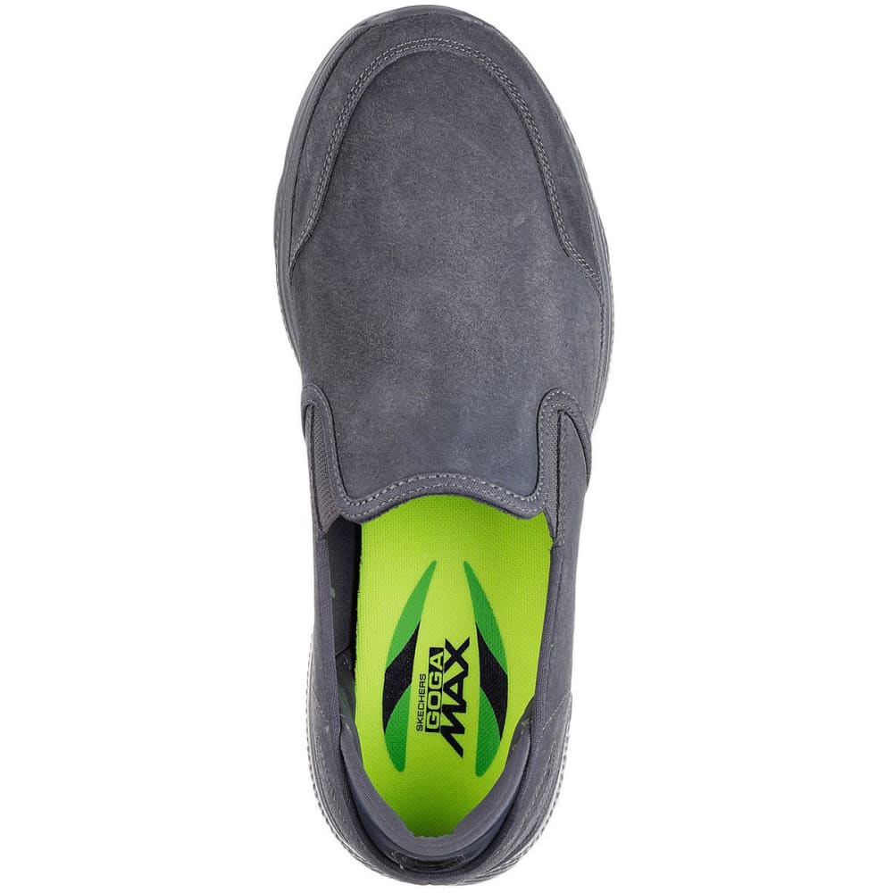 SKECHERS Men's GOwalk 4 – Deliver Slip-On Casual Shoes, Charcoal - CHARCOAL