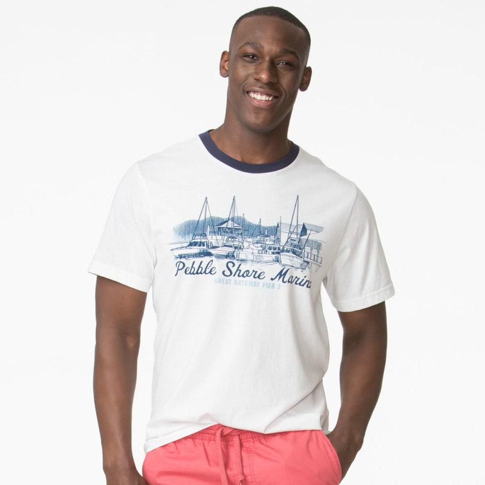 Chaps Men's Pebble Shore Marina Short Sleeve Tee - White, M