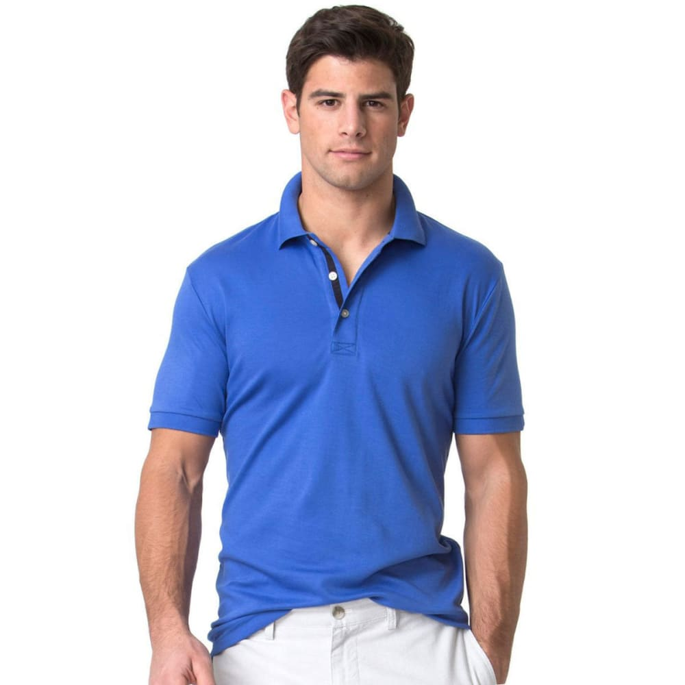 Chaps Men's Soft Touch Polo Short-Sleeve Shirt - Blue, M