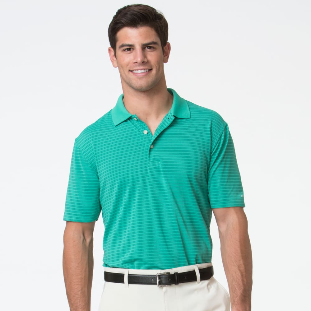 Chaps Men's Golf Feeder Stripe Polo Short-Sleeve Shirt - Green, M