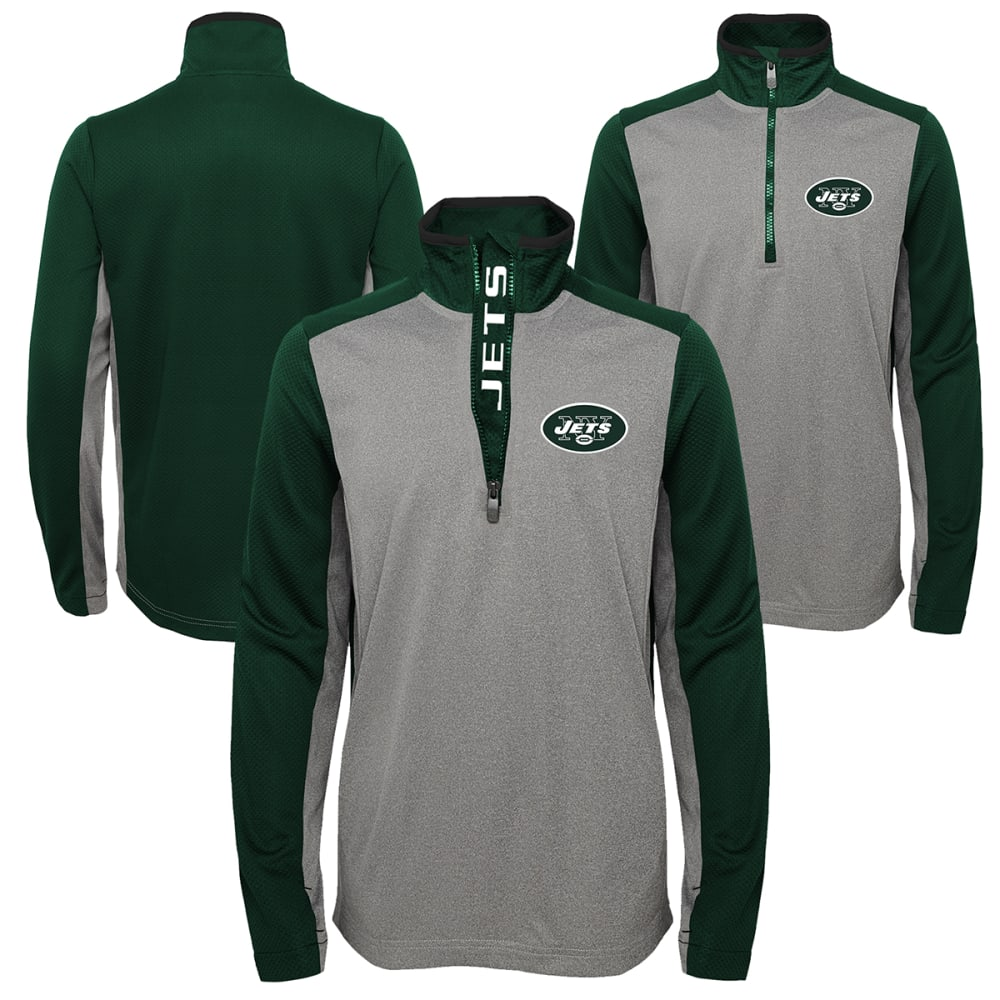 NEW YORK JETS Boys' Matrix 1/4 Zip Poly Pullover S