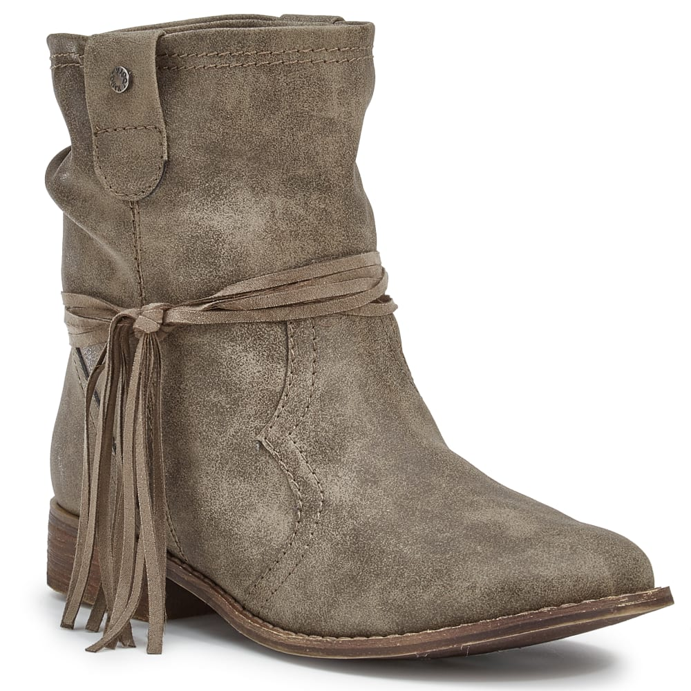 SUGAR Women's Imlate Fringe Wrap Booties - TAUPE