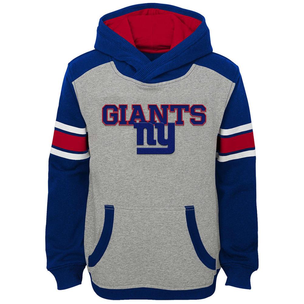 NEW YORK GIANTS Big Boys' Allegiance Pullover Hoodie - HEATHER GREY