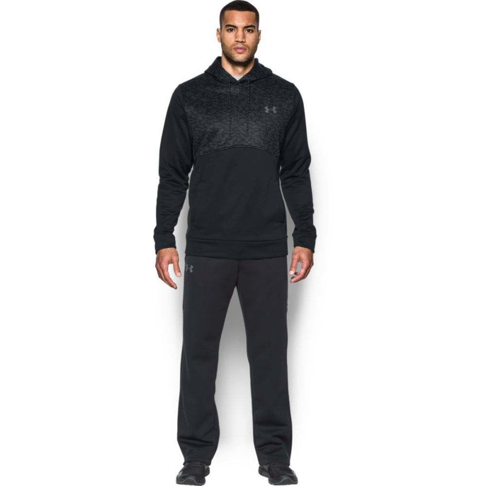 UNDER ARMOUR Men's UA Storm Armour Fleece Digi Texture Pullover Hoodie - BLACK/GRAPHITE-001