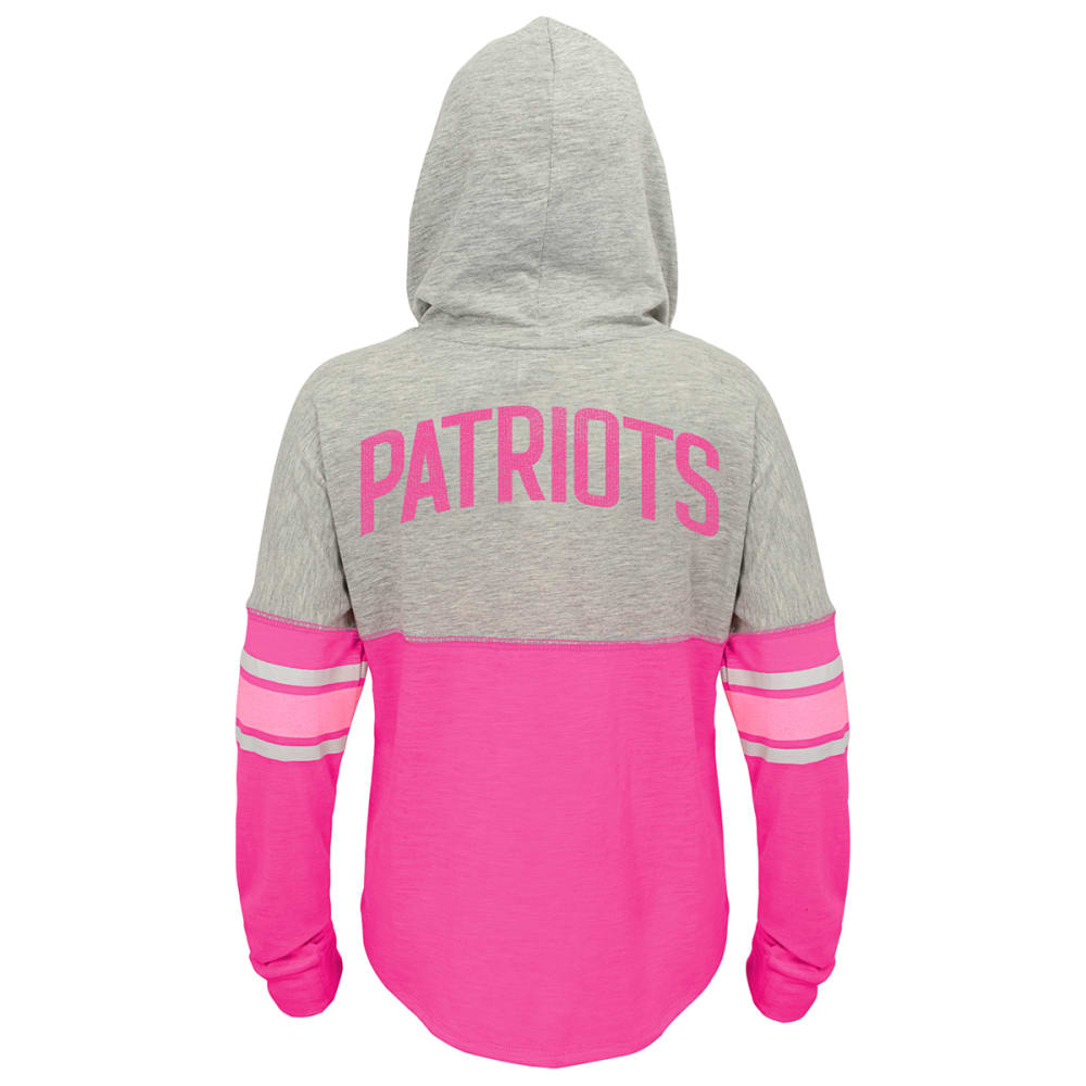 NEW ENGLAND PATRIOTS Girls' Monument Slouch Pullover Hoodie - PINK