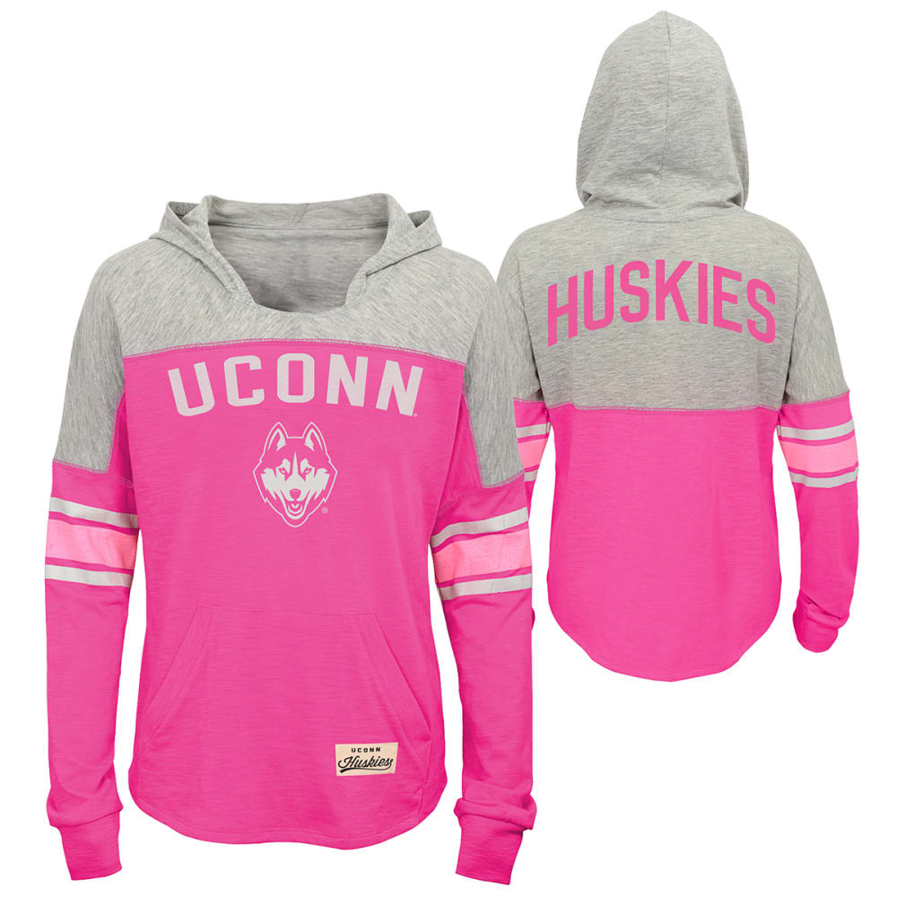 UCONN Girls' Monument Slouch Pullover Hoodie - PINK