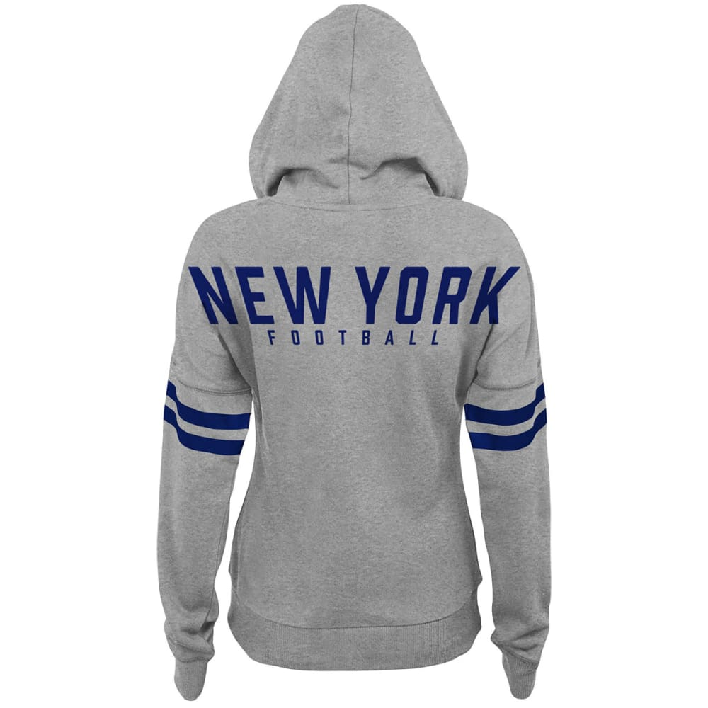 NEW YORK GIANTS Juniors' Varsity Pullover Hoodie - ROYAL BLUE