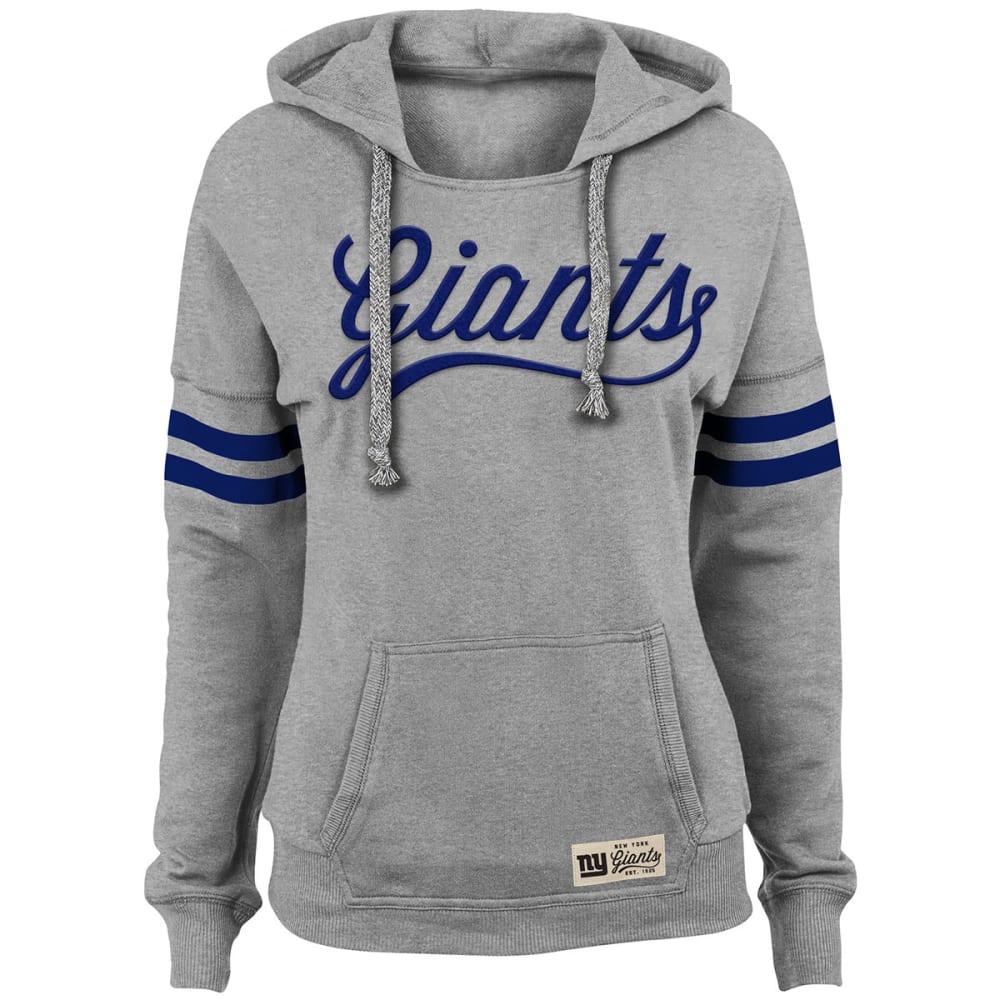 NEW YORK GIANTS Juniors' Varsity Pullover Hoodie - ROYAL BLUE