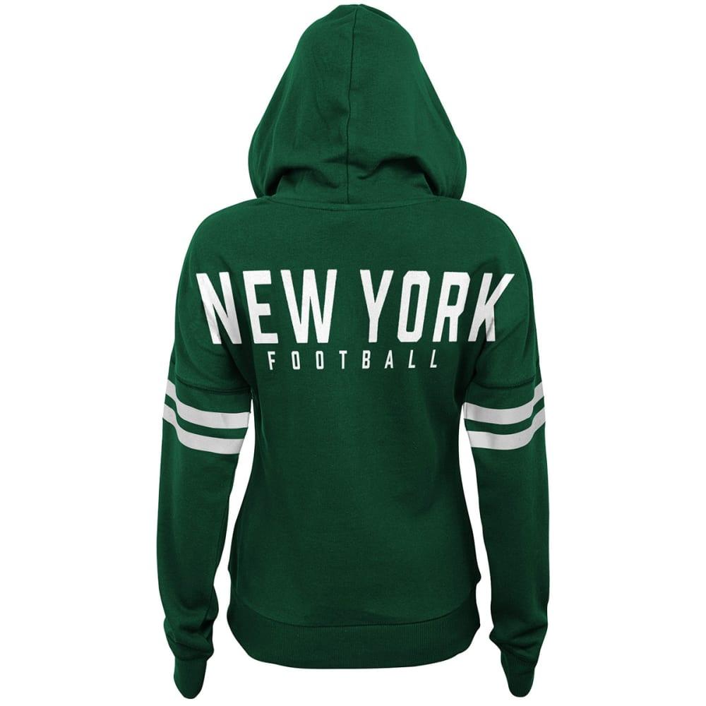 NEW YORK JETS Juniors' Varsity Pullover Hoodie - GREEN