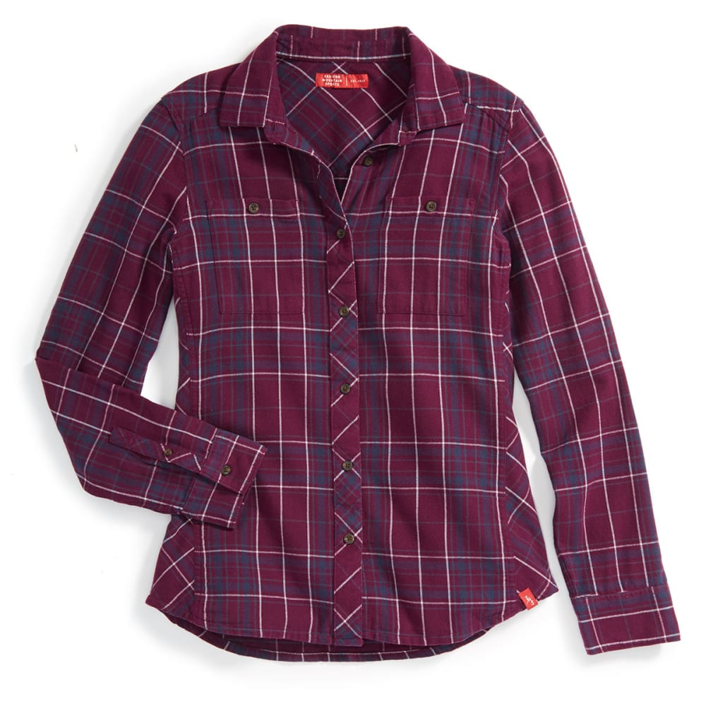 Ems Women's Cabin Flannel Long-Sleeve Shirt - Purple, XS
