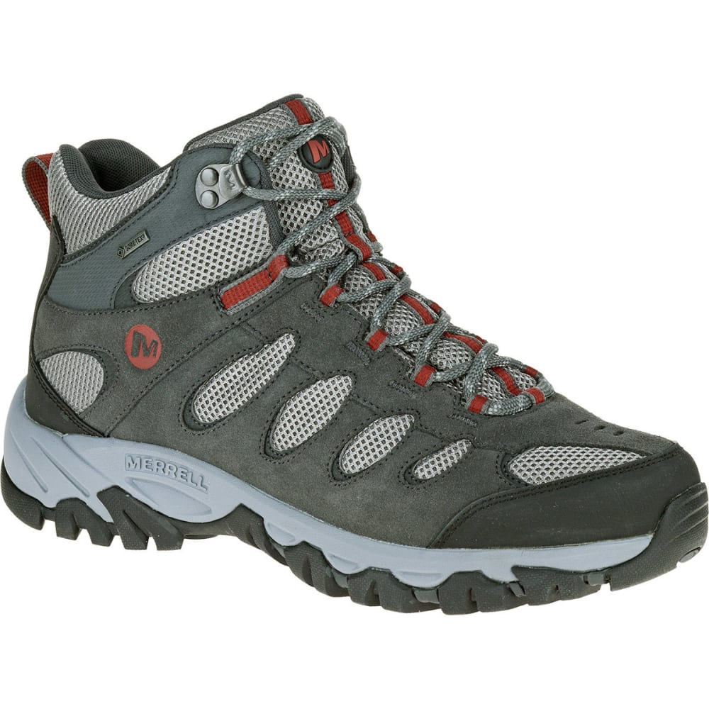 Merrell Men's Ridgepass Mid Gore-Tex Hiking Boots, Castle Rock - Black, 8.5
