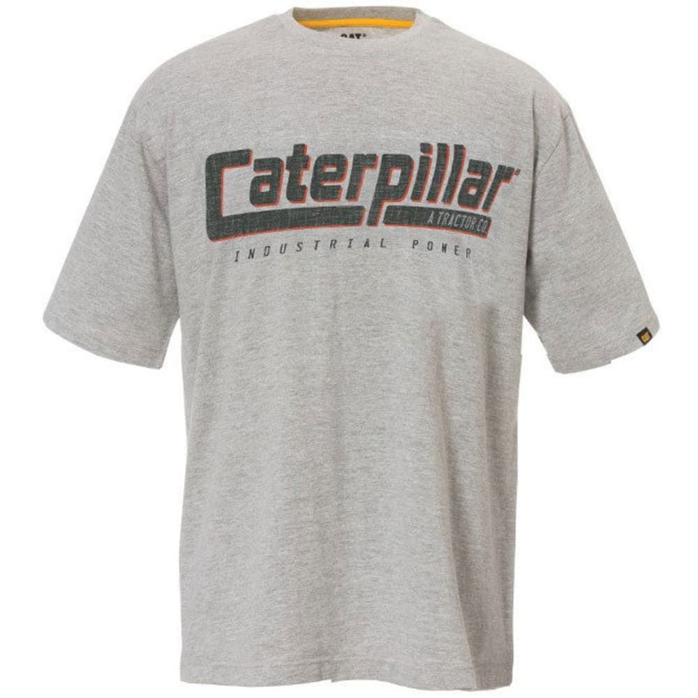 CAT Industrial Power Short Sleeve Graphic Tee - 001 HEATHER GRAY