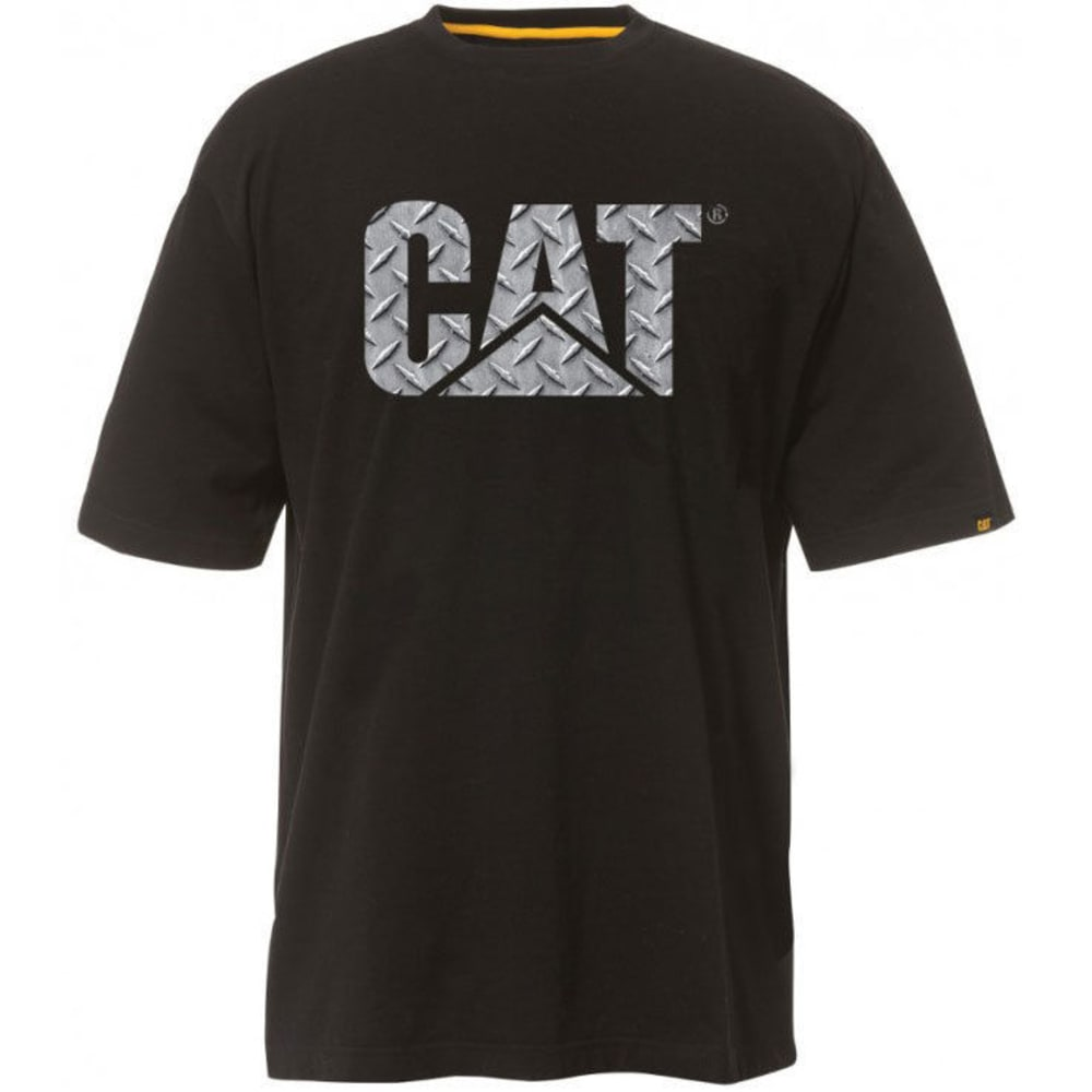 CATERPILLAR Men's Custom Logo Short-Sleeve Tee - 11102 DIAMOND OBLACK