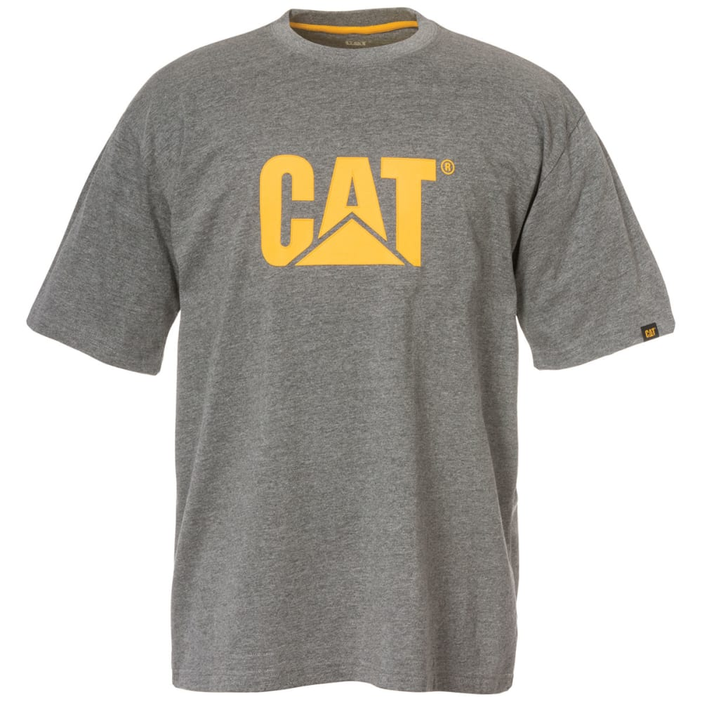 CAT Men's Full Chest Logo Tee - 004 DK HTHR GRAY