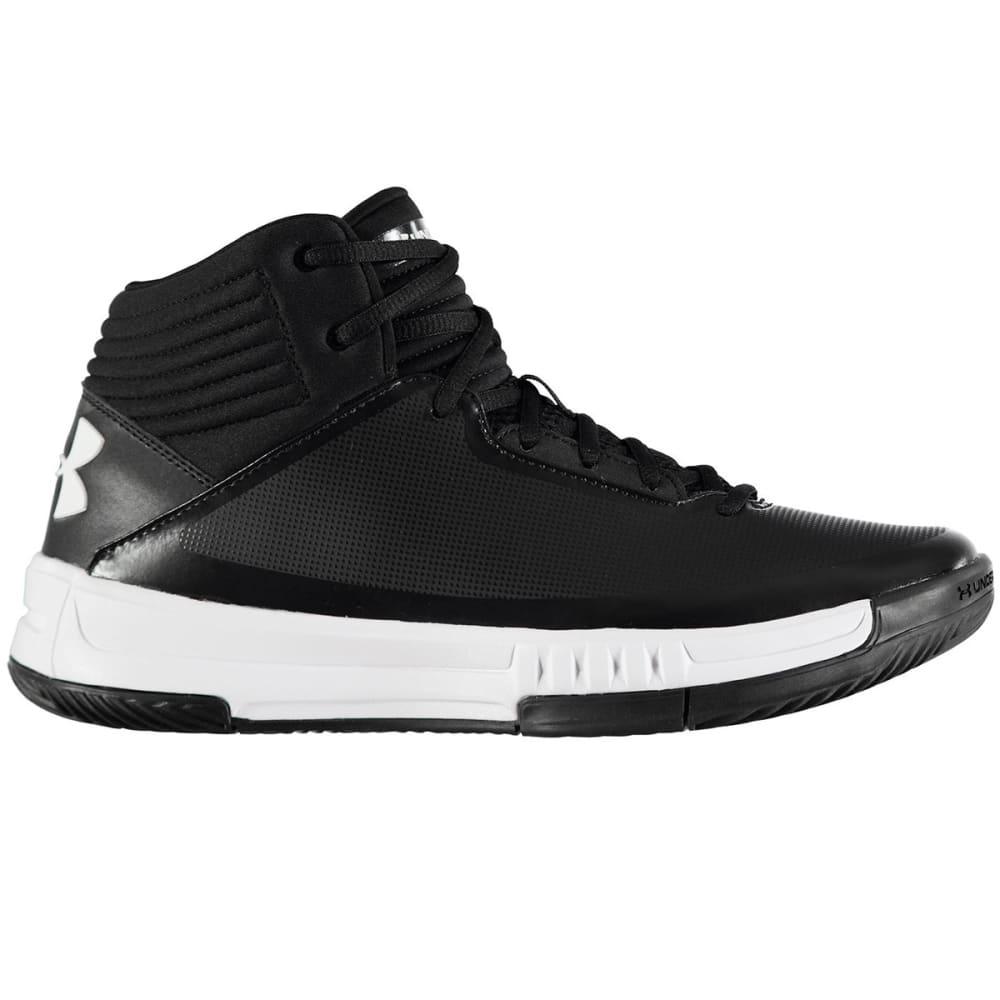 UNDER ARMOUR Men's Lockdown 2 Basketball Shoes, Black/White - BLACK