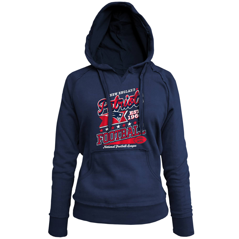 New England Patriots Women's Pullover Hoodie - Blue, M