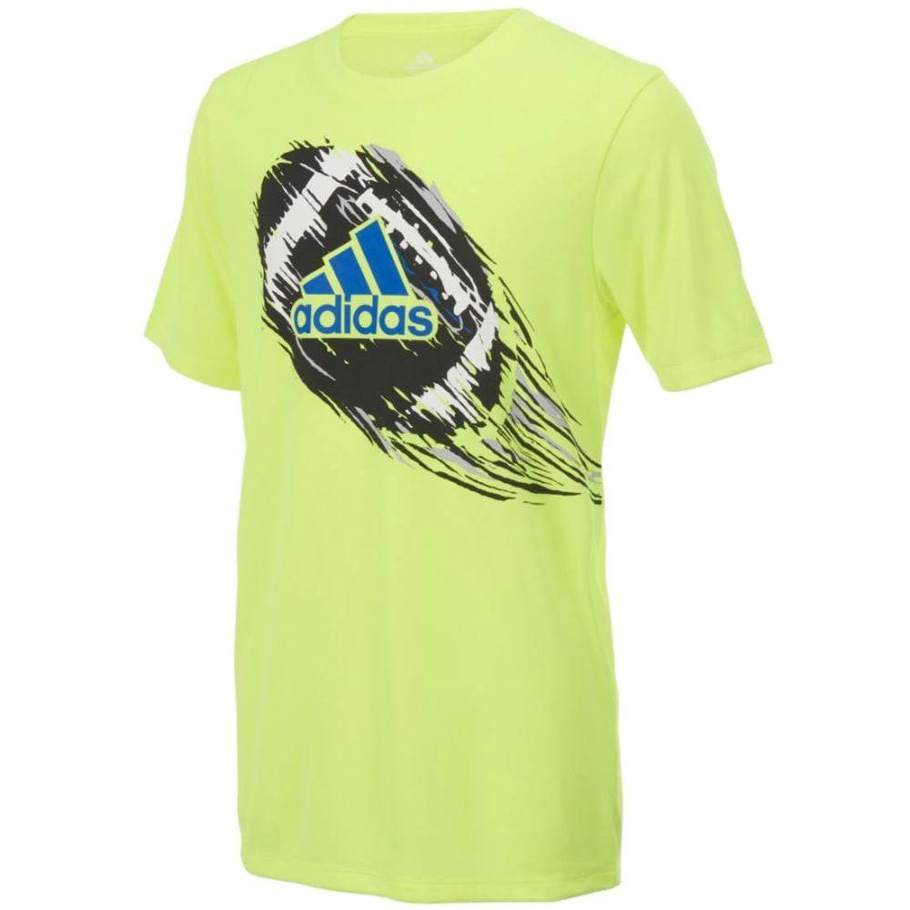 ADIDAS Boys' Dynamic Sport Poly Short-Sleeve Tee - SOLAR YELOWFTBL-AY06
