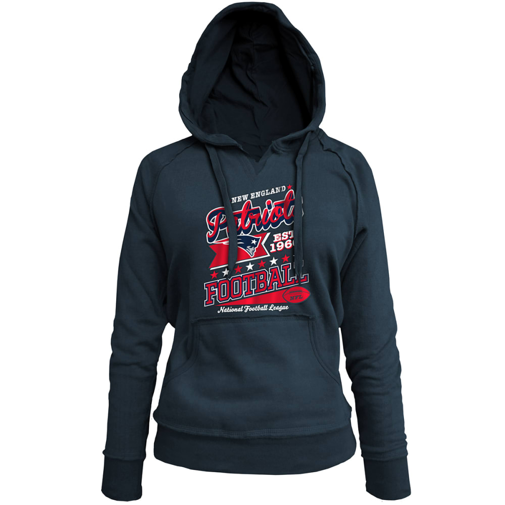 New England Patriots Women's Pullover Hoodie - Black, S